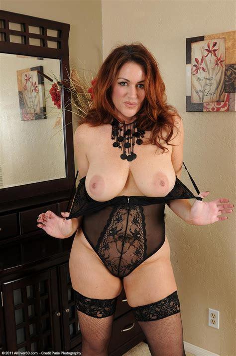 busty milf ryan in sexy black lingerie