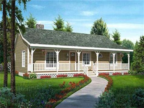ranch style house plans with front porch