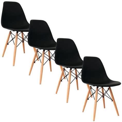lot 4 chaises lot de 4 chaises design maison design wiblia com