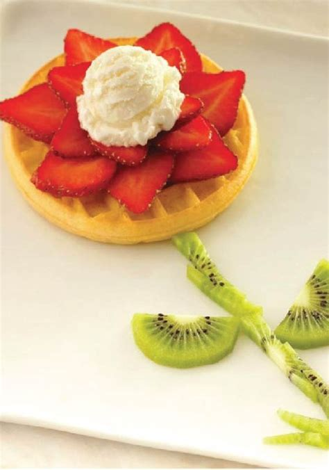 easy cuisine eggo waffle blooming flower let your artists shi