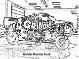 Grinder Coloring Monster Truck Designlooter sketch template