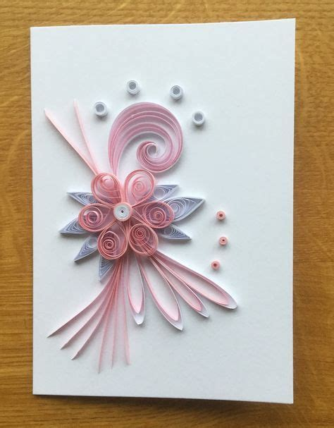 pink quilled care quilling birthday cards quilling