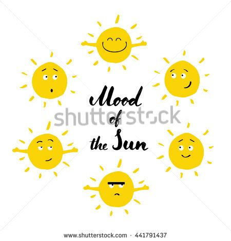 out there lettering sun smile stock vector yellow suns happy smile collection on stock vector