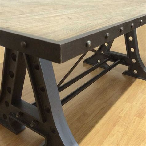 rustic industrial dining table industrial dining table reclaimed rustic vintage dining