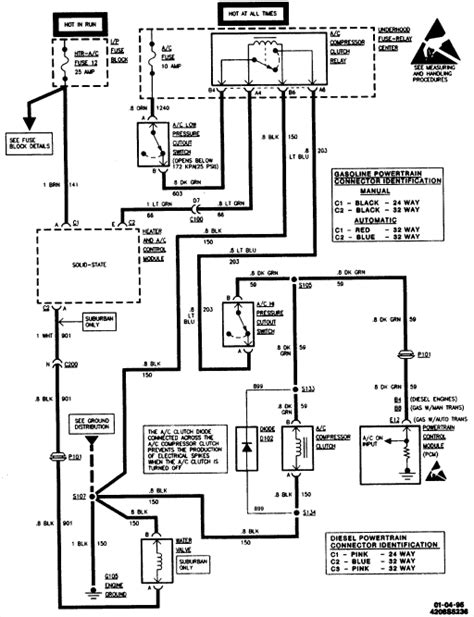 1998 A C Compressor Wiring Diagram by I 1995 Chevrolet Tahoe The Ac Doesn T Work Where
