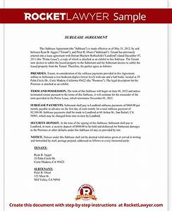 sublease agreement form sublet contract template with With subletting contract template