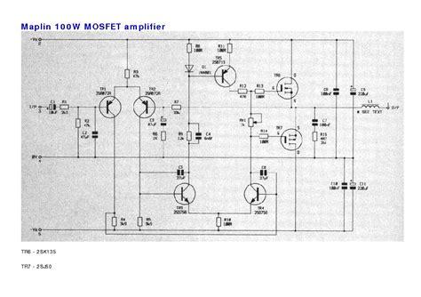 Mosfet Amplifier Gaf Sch Service Manual