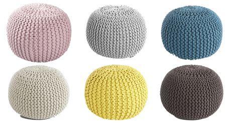 plaid coton pour canapé pouf tricot tuto diy et où en acheter un tout prêt