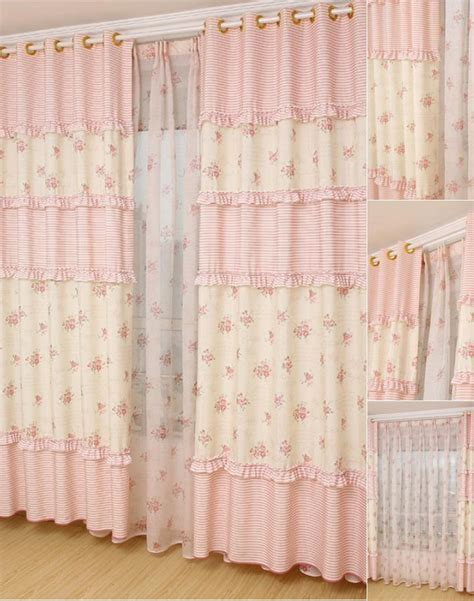 country floral patterns pink curtains for