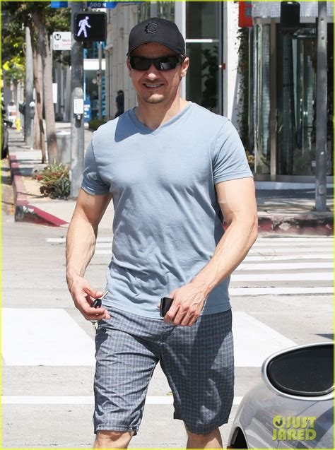Jeremy Renner Ripped His Veins Are Popping Out