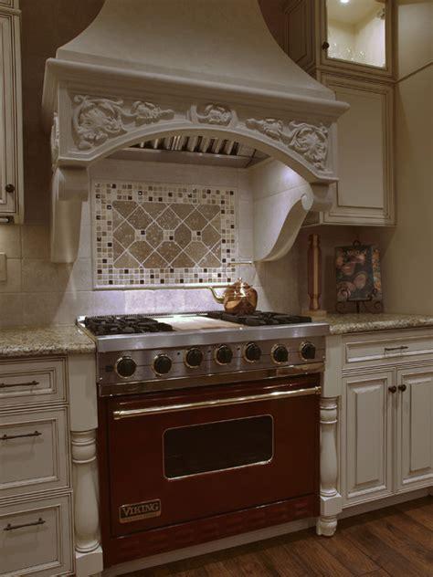 white antique   world kitchen hood traditional
