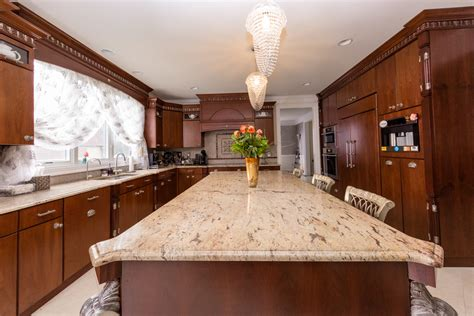 kitchen island   natural stone top