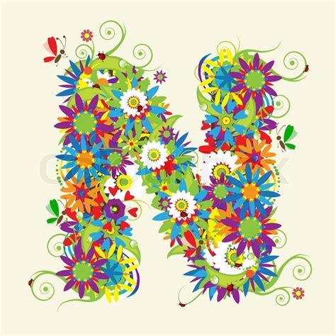 letter d floral design stock vector 169 kudryashka 3233753 letter n floral design see also letters in my gallery 40767