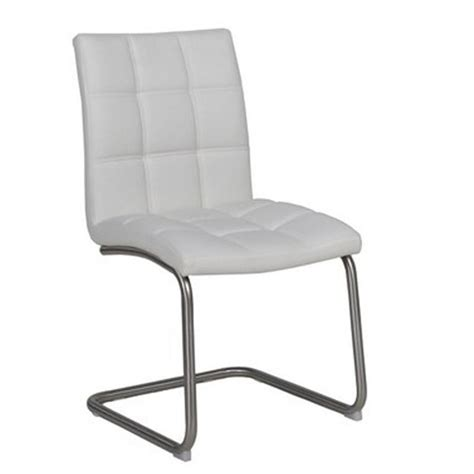 chaise cuir blanc meuble de salon contemporain