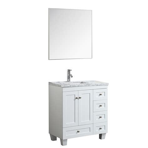 "Foremost columbia coeat2418 contemporary bathroom vanity. Eviva Happy 30"" x 18"" Transitional White Bathroom Vanity ..."