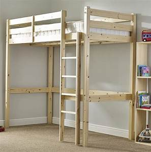 Icarus 3ft Single SHORT LENGTH Solid Pine HIGH SLEEPER ...