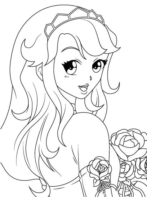 cute anime girls coloring pages manga coloring pages