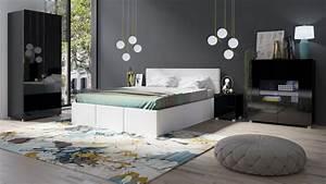 Schlafzimmer Komplett Weiß : schlafzimmer komplett set 5 tlg labri weiss schwarz hochglanz kaufen bei sylwia lesniewska ~ Orissabook.com Haus und Dekorationen