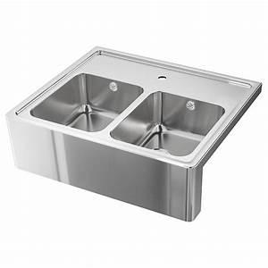 Ikea Spüle Mit Unterschrank : bredsj n sp le 2 becken mit frontblende edelstahl ikea ~ Watch28wear.com Haus und Dekorationen