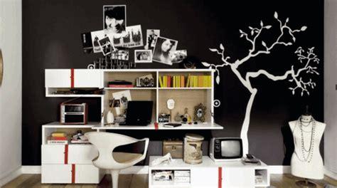 chambre ado fille noir et blanc la déco chambre ado fille esthétique et amusante
