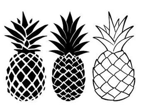 pineapple top silhouette pineapple clip silhouette pictures to pin on