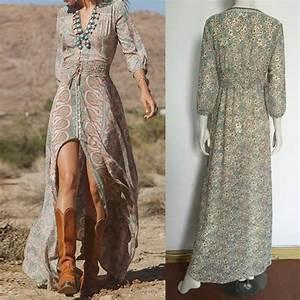 Robe Longue Style Boheme : robe boheme robe hiver chic robeforyou ~ Dallasstarsshop.com Idées de Décoration