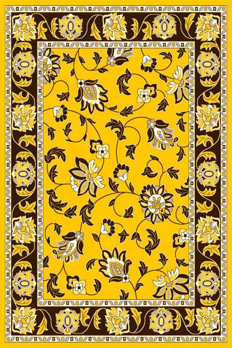 yellow area rug 5x7 1005 burgundy ivory black green floral area rug