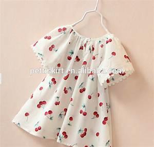 Korean Baby Girls Cherry Pattern Children Frocks Cute ...