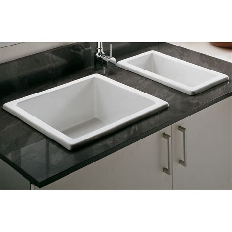 clay sinks kitchen astini hton 50s 0 5 bowl white ceramic undermount 7202