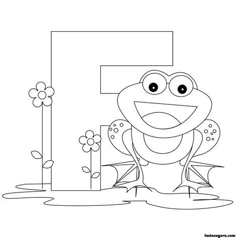 printable animal alphabet worksheets letter   frog printable coloring pages  kids