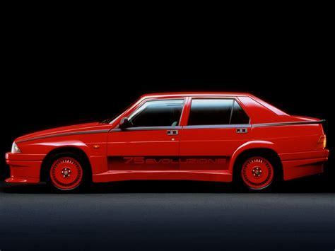 siege auto alfa romeo alfa romeo 75 specs 1985 1986 1987 1988 1989 1990