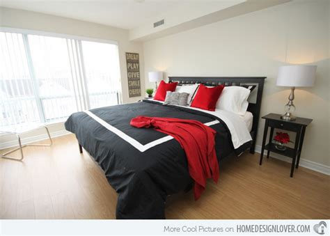 Pleasant Black, White And Red Bedroom Ideas