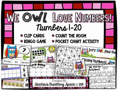 Numbers Valentine Number Bingo Clip Cards Pocket