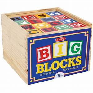 Large alphabet blocks walmartcom for Baby letter blocks walmart