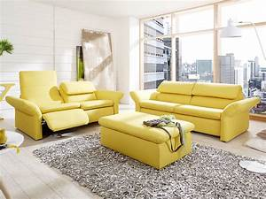 Sofa 3 Sitzer Mit Hocker : bergamo relaxsofa 3 sitzer sofa gelb 4058 ~ Bigdaddyawards.com Haus und Dekorationen