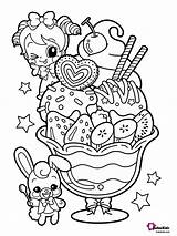 Coloring Dessert Pages Food Bubakids sketch template