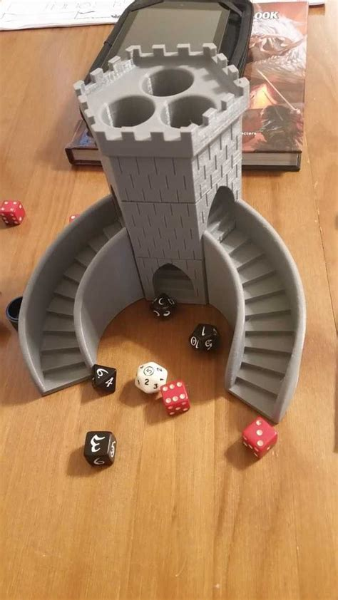 printed dice tower  printing diy  printer  printing projects