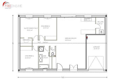 Plan Maison Avec Appartement Plan De Maison F3 Avec Garage