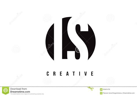 Ls L S White Letter Logo Design With Circle Background