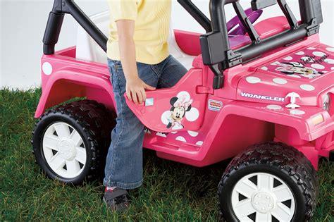 power wheels jeep white fisher price power wheels disney minnie jeep wrangler
