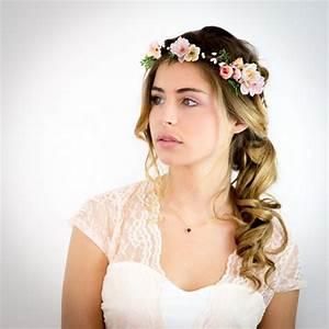 Couronne De Fleurs Mariée : coiffure mariage couronne fleurs ~ Farleysfitness.com Idées de Décoration