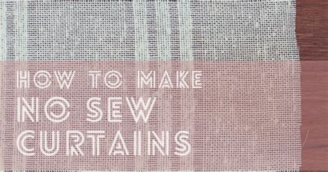 How To Make Drapes Without Sewing - the photogrs diy curtains how to make curtains