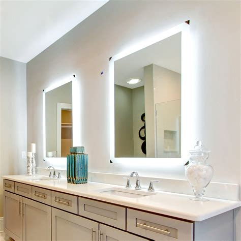 X On Bathroom Mirror by Side Lighted Led Bathroom Vanity Mirror 36 Quot X 36