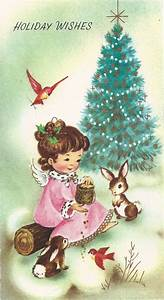 Leaping Frog Designs: Free Vintage Christmas Card Clip Art ...