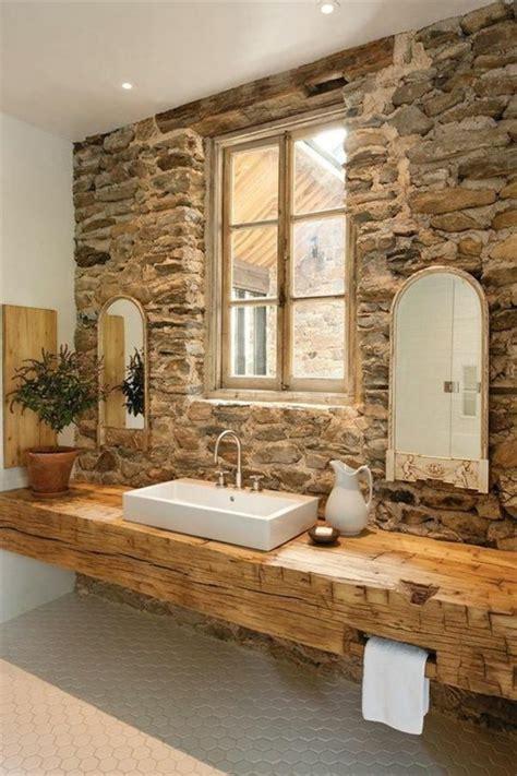 Vanity Wood And Other Rustic Bathroom Ideas