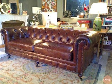 sofa chester en valencia sofa chester cuero envejecido vilmupa