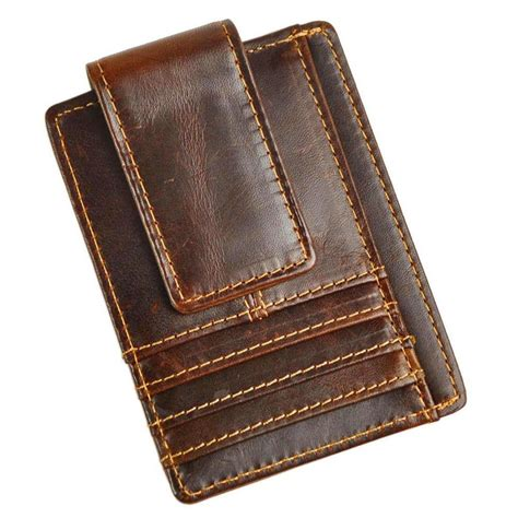 Stuffing money and some important documents like credit cards or an id card in your pocket is not always good. Men's Leather Slim Spring Money Clip Wallet Credit Card Case Holder Front Pocket #Leaokuu ...