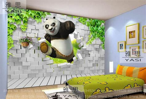 Kids D Wallpaper Panda D Wallpaper For Kids Room Fresco