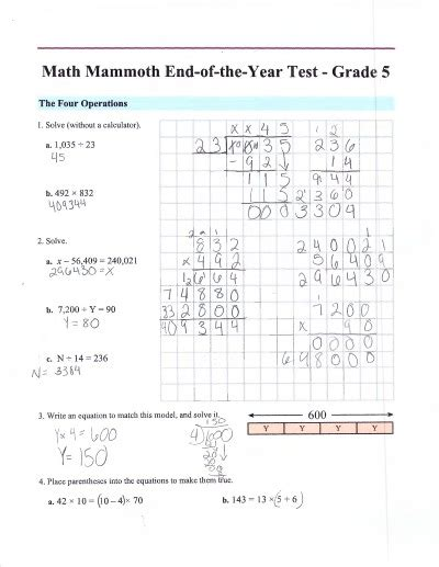 Math Mammoth Placement Tests For Grades 17 (free Math Assessment