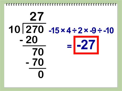 to devide how to multiply and divide integers 10 steps